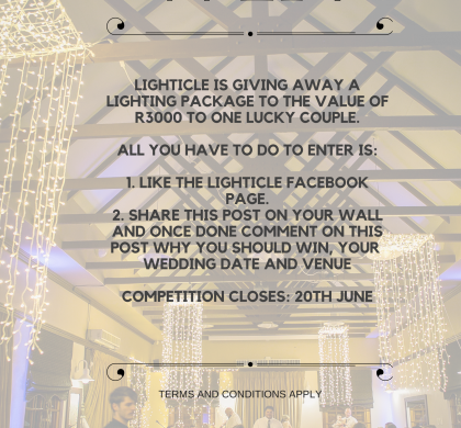 Win a lighting package to the value of R3000.00